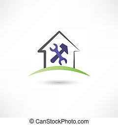 reparar, ícone casa