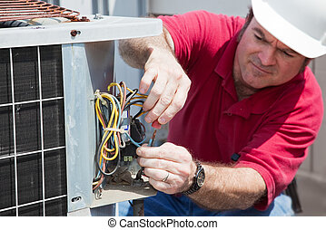 reparar, ac, compressor