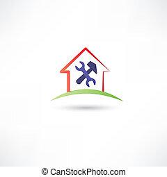 reparar, casa, redicon