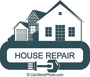 reparar, construção, casa