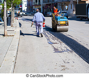 reparar, construção, rua, cidade