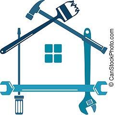 reparar, ferramenta, lar