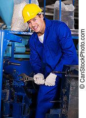 reparar, máquina, industrial, mecânico