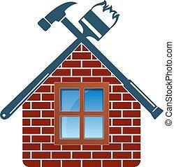 reparar, manutenção, casa