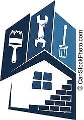 reparar, manutenção, casas