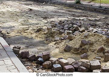 reparar, pavimentar, estrada