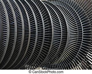 reparar, planta, acione gerador, durante, turbina, vapor