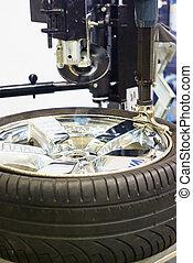 reparar, pneu
