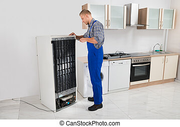 reparar, repairman, refrigerador