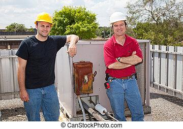 reparatörer, betingning, luft