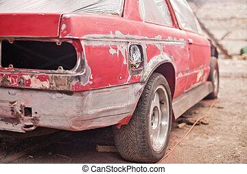 reparatur, altes , auto