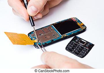 reparatur, elektronik