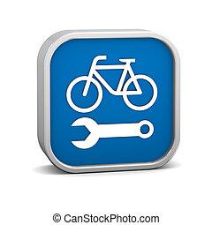 reparatur, fahrrad, zeichen