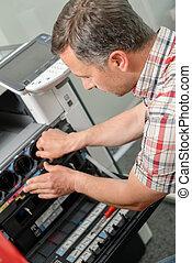 reparatur, fotokopiergerät