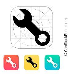 reparatur, icon., maulschlüssel