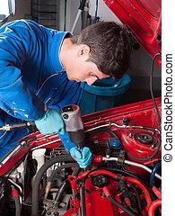 reparatur, maschine mechaniker, auto