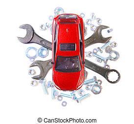 reparatur, von, auto