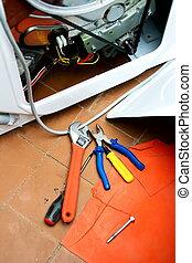 reparatur, waschmaschine