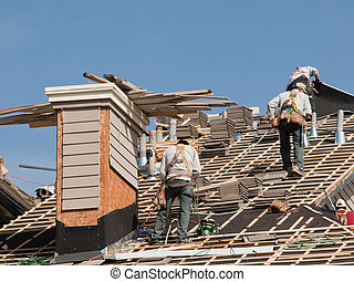 reparaturen, dach