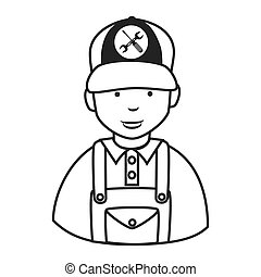 reparaturmann, mechaniker, ikone