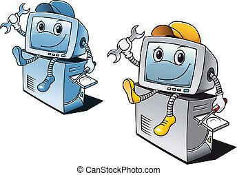 reparer, computer, tjeneste