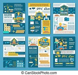 reparer, hus, temlate, konstruktion, hjem, banner