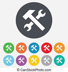 reparer, tjeneste, værktøj, symbol., tegn, icon.
