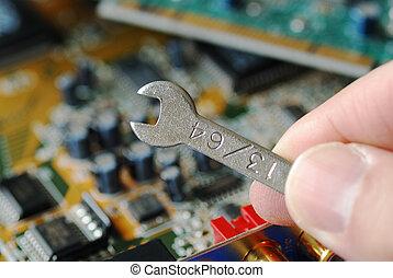 reparera, a, dator