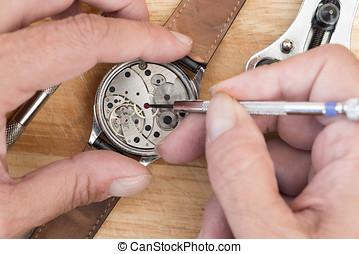 reparera, av, uren