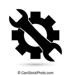 reparera, vektor, ikon