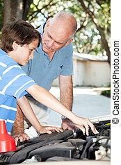 reparere, den, automobilen, toogether