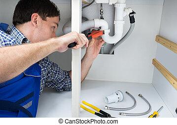 repareren, installatiebedrijf, wastafel
