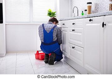 repareren, installatiebedrijf, zinken, keuken