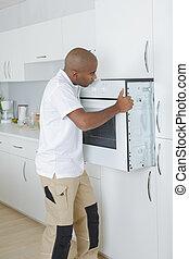 repareren, keuken, deur, zinken, handyman
