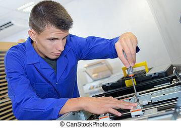 repareren, schroevendraaier