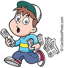 repartidor de periódicos