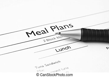 repas, plans