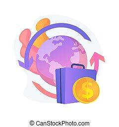 Repatriation grant abstract concept vector illustration. ...