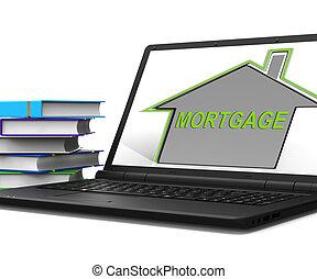 repayments, hypothèque, tablette, moyens, maison, prêt, ...