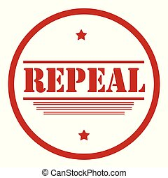 Repeal-red stamp - Red stamp with text Repeal,vector...