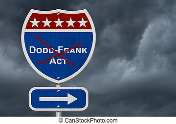 Repealing and replacing the Dodd-Frank Act, Red, white and...
