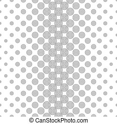 Repeat black and white circle pattern design