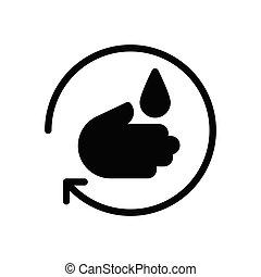 repeat glyph flat icon