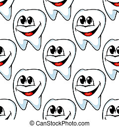 Repeat pattern of happy healthy teeth