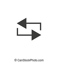 Repeat vector icon, loop symbol. Simple, flat design for web or mobile app