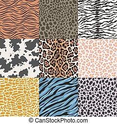 repeated animal skin pattern