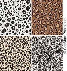 repeated animal skin print