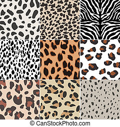 repeated animal skin texture