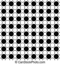 Repeating black white circle pattern