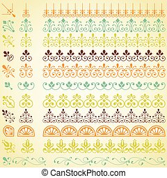 Repeating Borders Set - Set of repeating borders. Main...